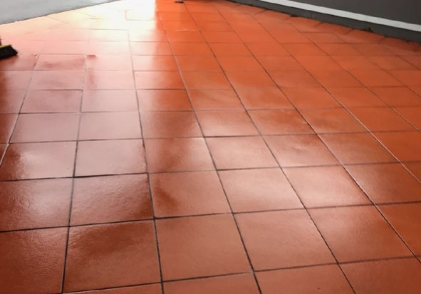 Cleaning Office Entrance Tiles | Melbourne CBD | Office Cleaning | Performance Group