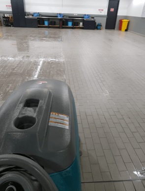 Cleaning a Tiled Workshop Floor in Essendon | Melbourne | Performance Cleaning