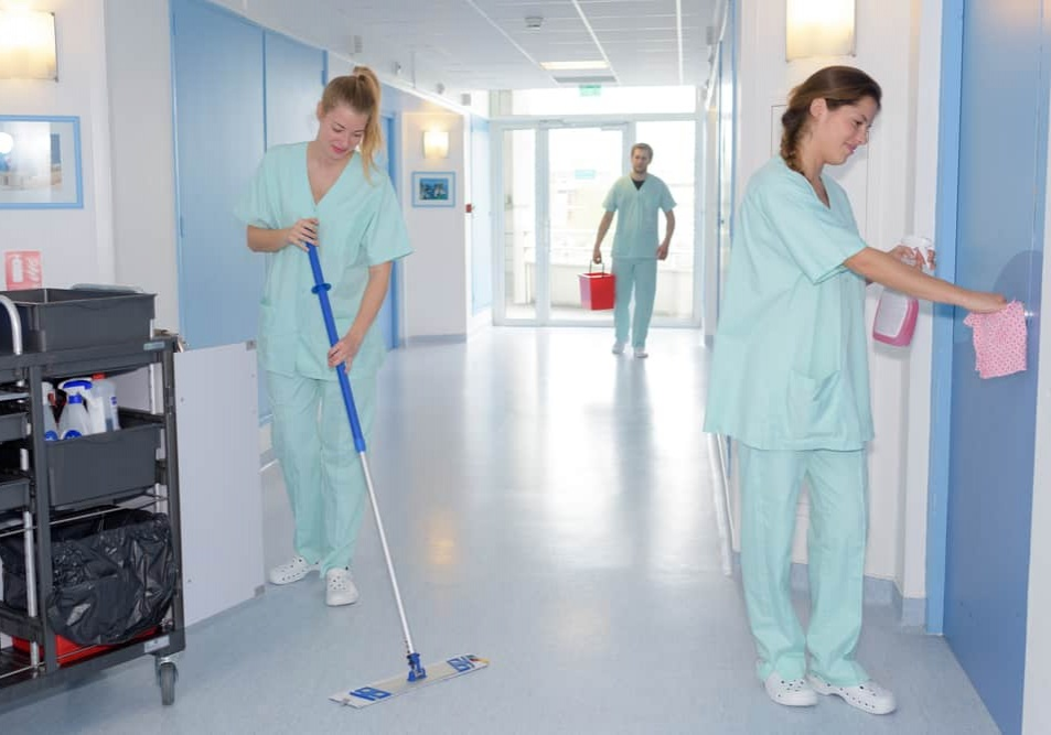 cleaning in hospital and cleaning